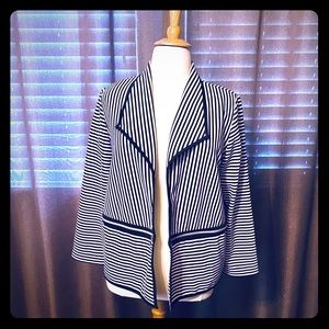 Chicos Modern Striped Jacket